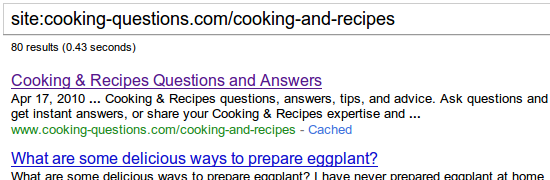 The completely different Cooking *and* Recipes category
