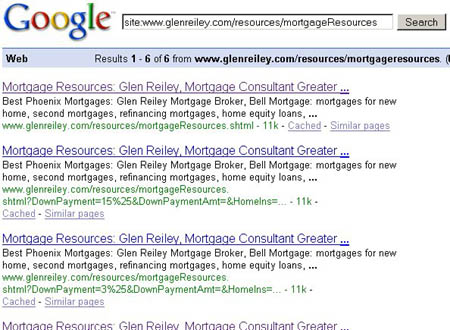 GlenReily.com calculator serps