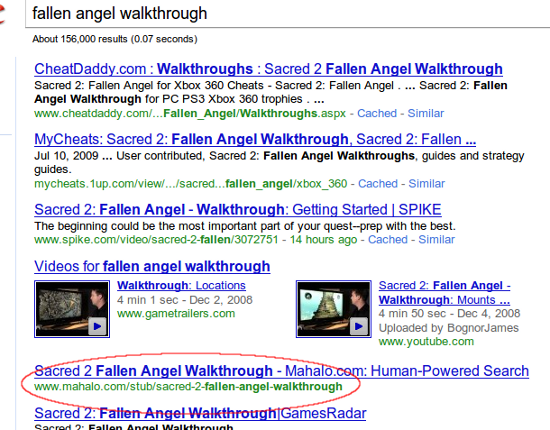 fallen angel walkthrough stub listing