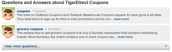 Mahalo TigerDirect coupons questions?