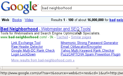 Google real serps url
