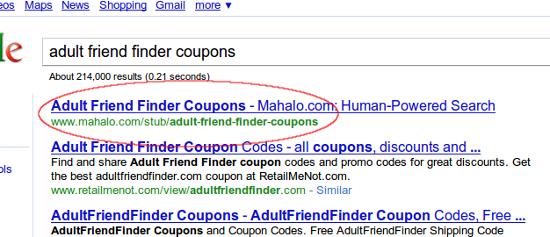 adult friend finder coupon
