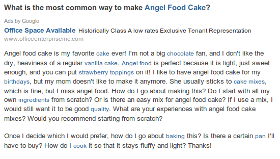 Angel food cake question